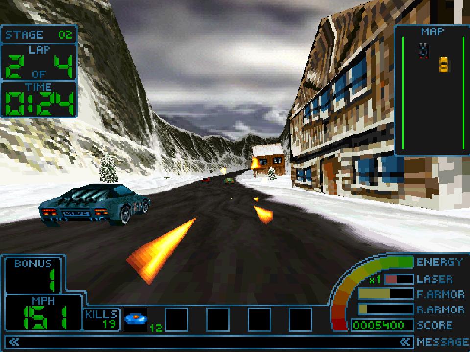 sony playstation 1 graphics. screenshot thumbnail / media file 1 for impact racing [u] sony playstation graphics t